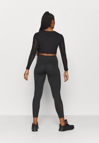 South Beach - SIDE PANEL LEGGING - Medias - black - 2