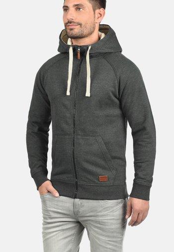 SPEEDY - Zip-up sweatshirt - charcoal