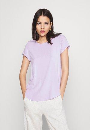 VMBECCA PLAIN - Jednoduché triko - pastel lilac
