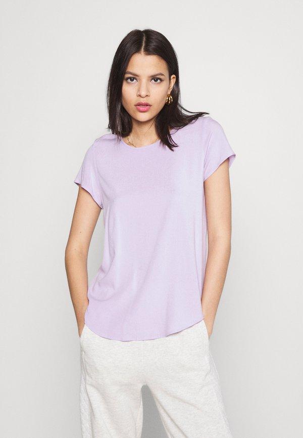 Vero Moda VMBECCA PLAIN - T-shirt basic - pastel lilac/liliowy WWFX