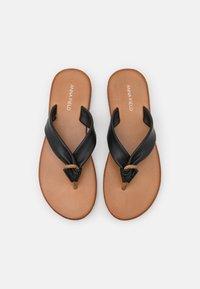 Anna Field - LEATHER - T-bar sandals - black - 5