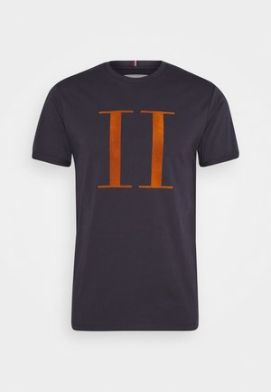 ENCORE  - T-shirt imprimé - dark navy/rusty brown