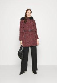Dorothy Perkins - LONG PUFFER COAT - Winter coat - wine - 1
