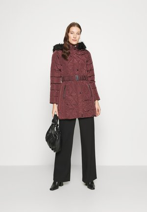 LONG PUFFER COAT - Winter coat - wine