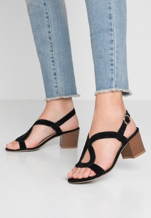 WIDE FIT OSWIRL - Sandals - black