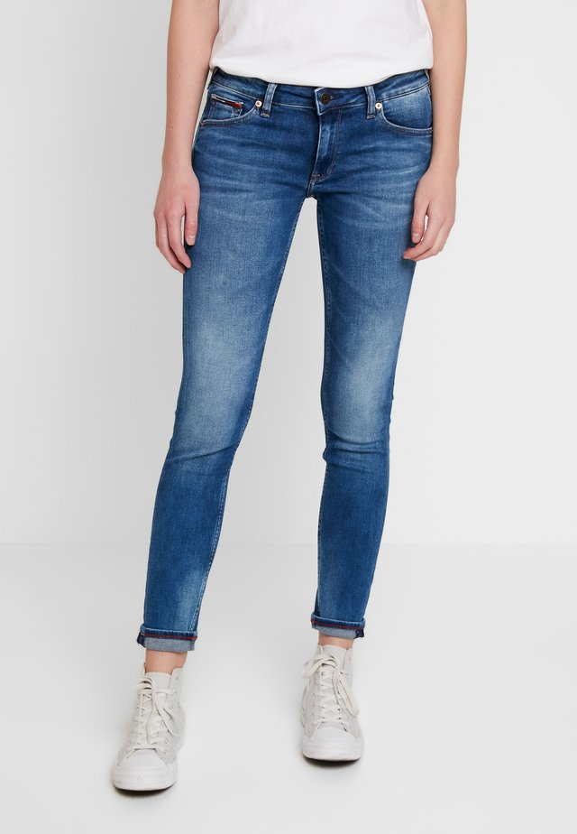SOPHIE LOW RISE - Jeansy Skinny Fit - blue denim