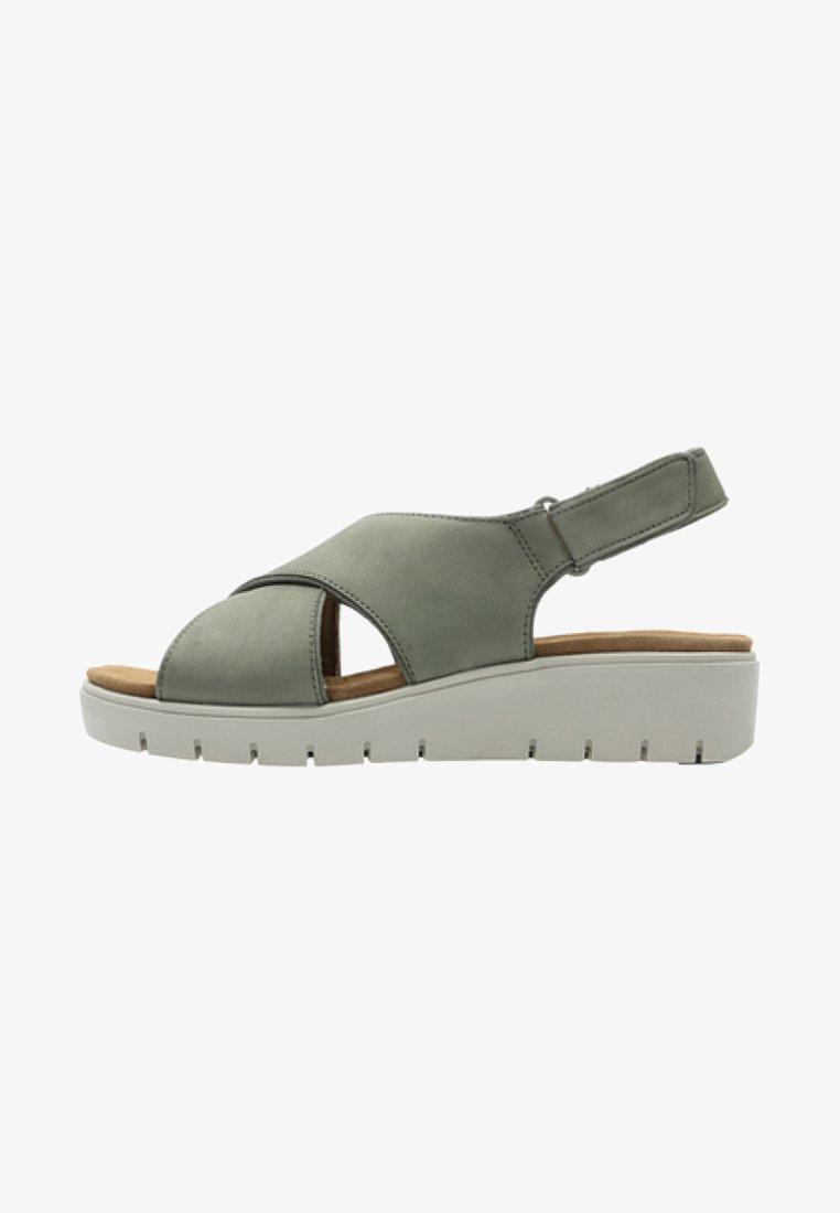 Clarks - Sandalias de senderismo - green
