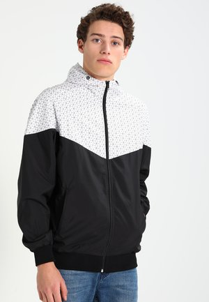 GRAPHIC PRINTED - Summer jacket - black/white