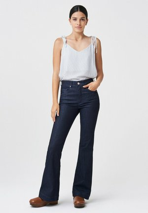 Flared Jeans - blau_8505