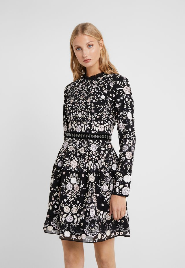 ELLA LONG SLEEVE PROM - Cocktailjurk - ballet black