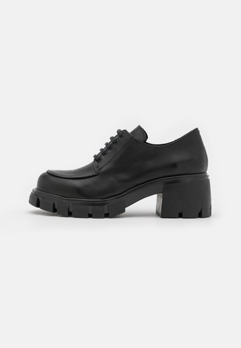 MATCHA CLEATED LACE UP - Derbies - black