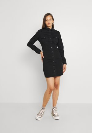 NMJOY DRESS  - Shirt dress - black denim