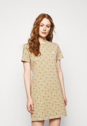 BASKETWEAVE DRESS - Print T-shirt - buttermilk