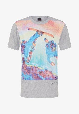 VITO - T-shirt imprimé - hellgrau meliert