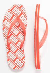 UGG - SIMI GRAPHIC - Pool shoes - coral - 3