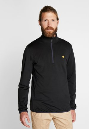 TECH ZIP MIDLAYER - Fleecová mikina - true black