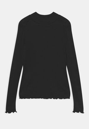 LONG-SLEEVED RUFFLE - Long sleeved top - black