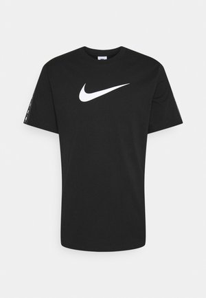 REPEAT TEE - T-shirt con stampa - black/white