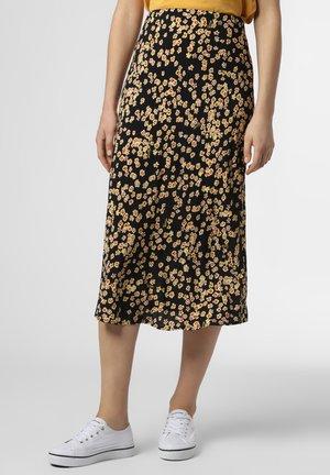 A-line skirt - schwarz gelb
