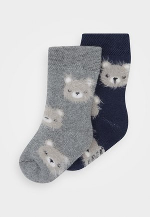 BABY SOCKS TERRY BEAR 2 PACK - Ponožky - tinte/grau melange