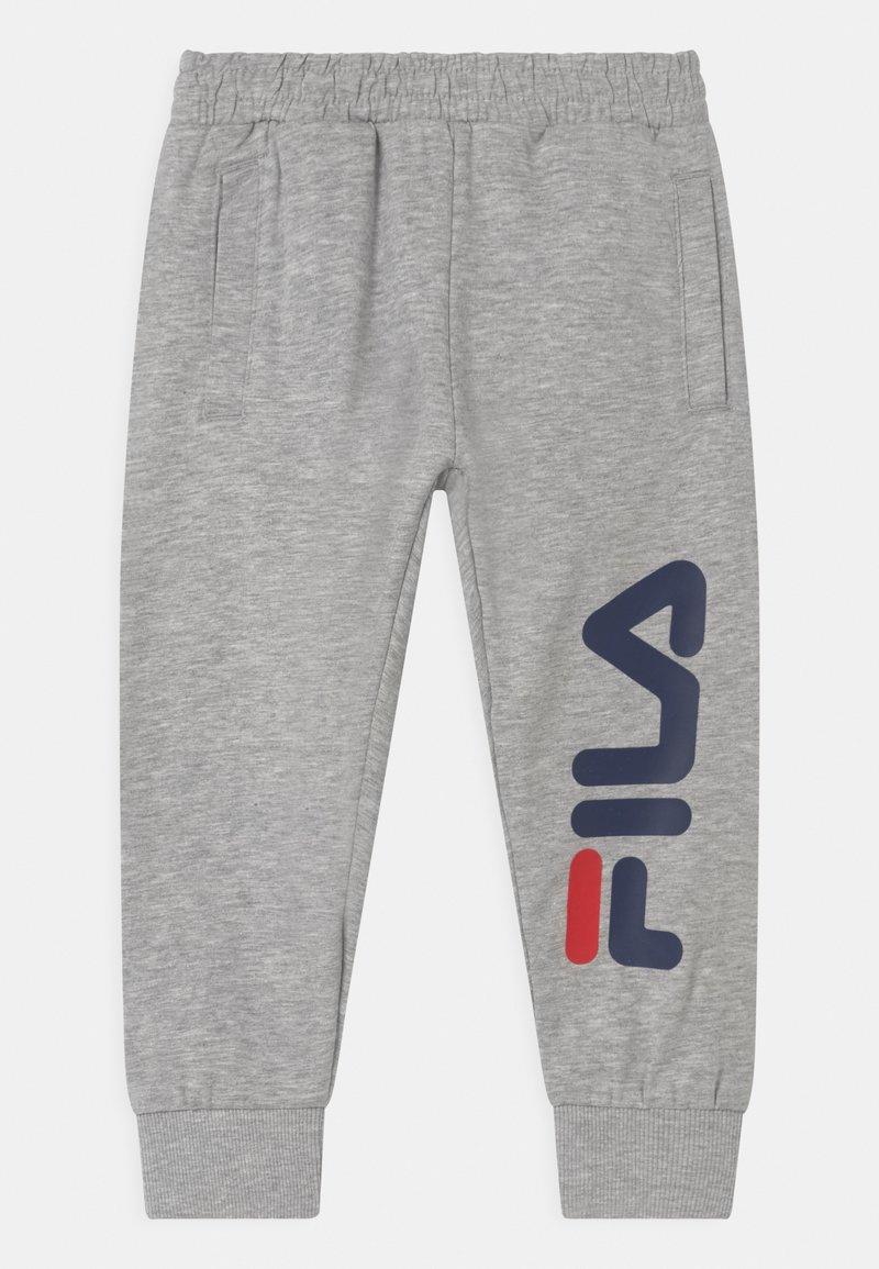 Fila - PATRI LOGO UNISEX - Trousers - light grey melange