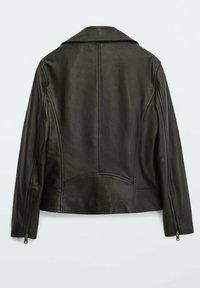 Massimo Dutti - BIKER - Leather jacket - black - 1