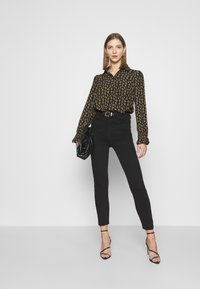 ONLY - ONLJESS SMOCK TOP  - Button-down blouse - black/yellow - 1