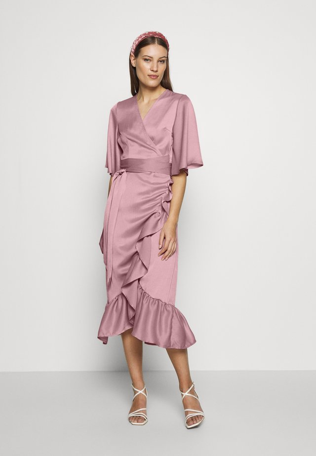 FRILL WRAP MIDI SKIRT - Cocktail dress / Party dress - lilac