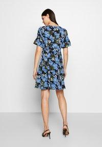 MICHAEL Michael Kors - BOLD FLARE DRESS - Day dress - black/ vintage blue - 2