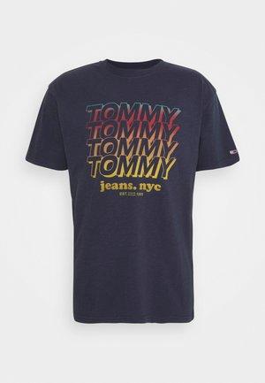 REPEAT TOMMY TEE - T-Shirt print - twilight navy