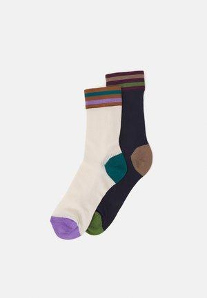 LONA 2 PACK - Socks - off-white/dark blue