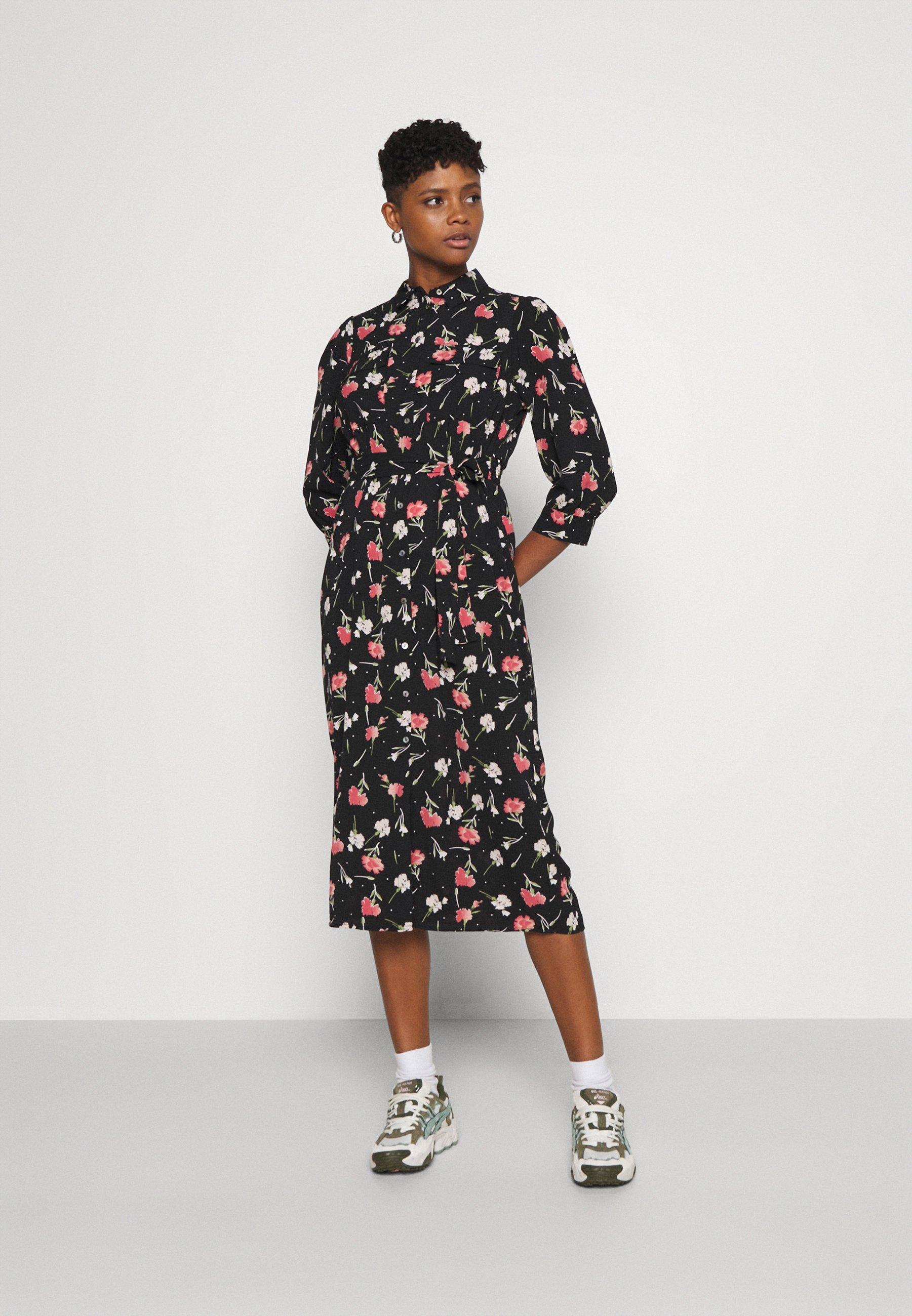 Donna ONLNOVA LUX 3/4 LONG DRESS - Abito a camicia