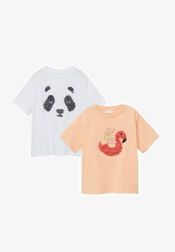 2 PACK - Print T-shirt - blanc cassé