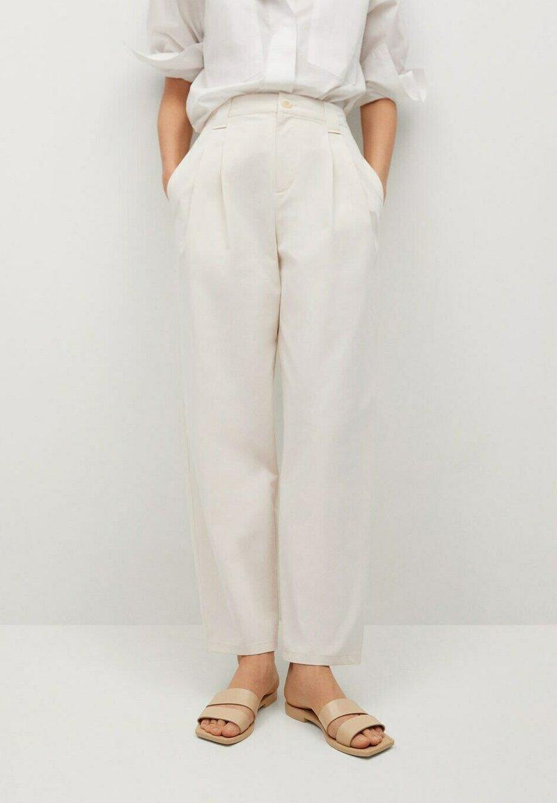 Mango - MINT - Spodnie materiałowe - ecru