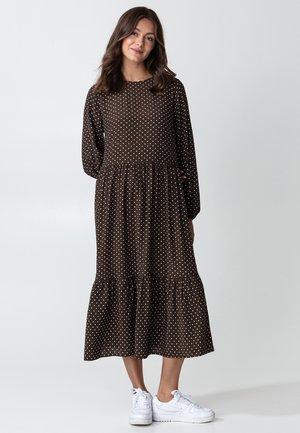 JULIA  - Jersey dress - brown