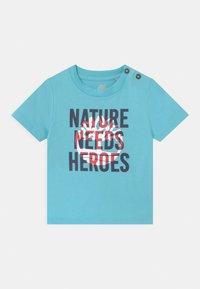 Timberland - SHORT SLEEVES - Print T-shirt - blue - 0