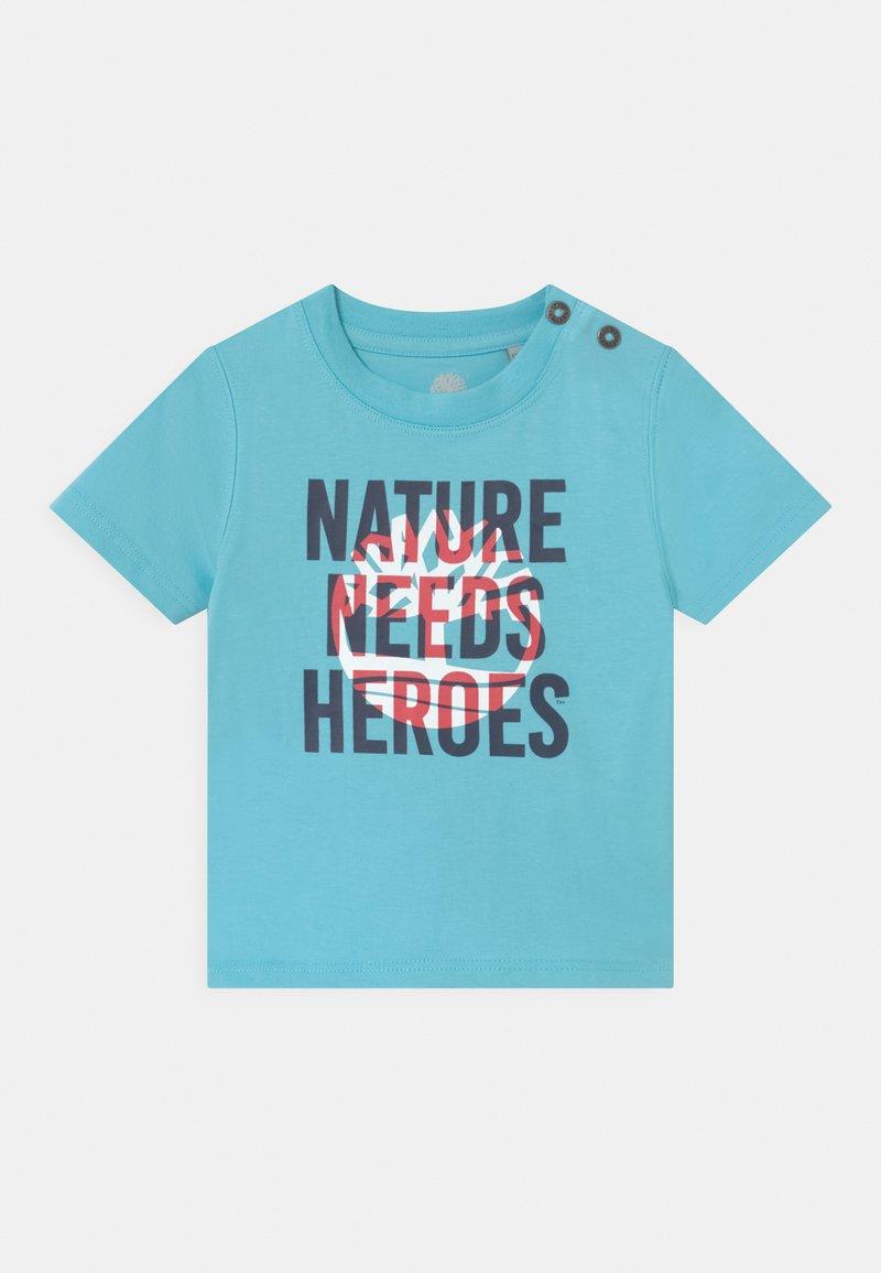 Timberland - SHORT SLEEVES - Print T-shirt - blue