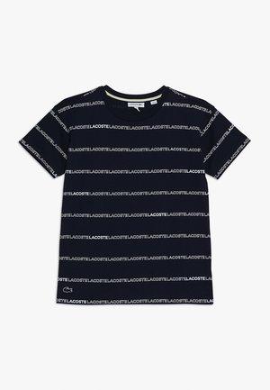 BOY TEE - Print T-shirt - navy blue/white