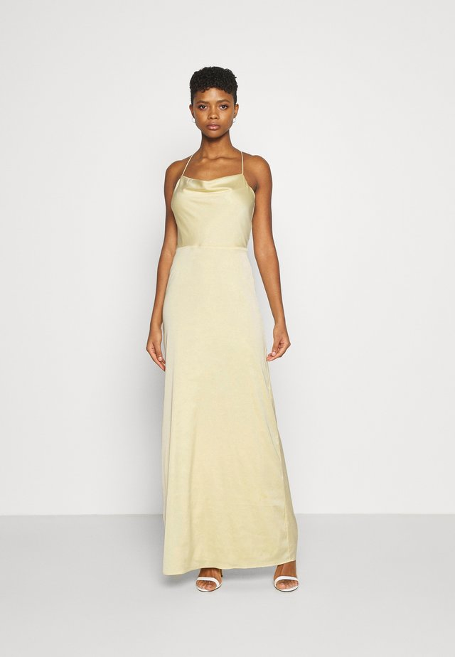 WATERFALL MERMAID GOWN - Vestido de fiesta - light yellow