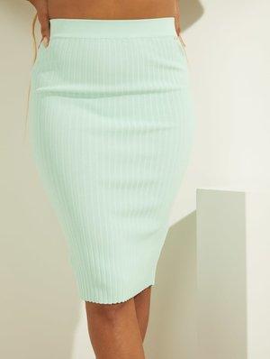 Pencil skirt - green multi
