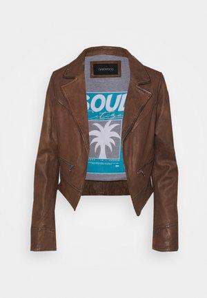 TRISH - Leather jacket - wild