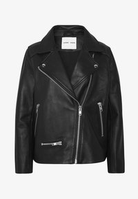 Samsøe Samsøe - WELTER JACKET  - Leather jacket - black - 5