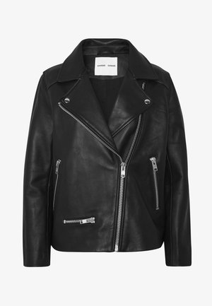 WELTER JACKET  - Leather jacket - black