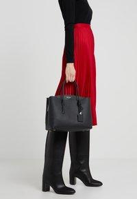 kate spade new york - MARGAUX LARGE SATCHEL - Across body bag - black - 1