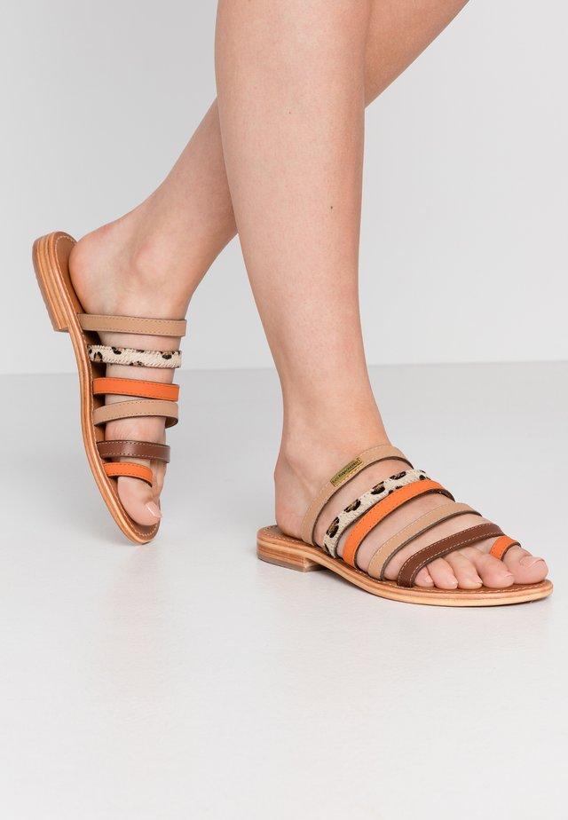 BRIQUET - Sandaler m/ tåsplit - orange/multicolor