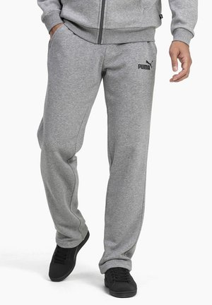 ESSENTIALS - Tracksuit bottoms - medium gray heather