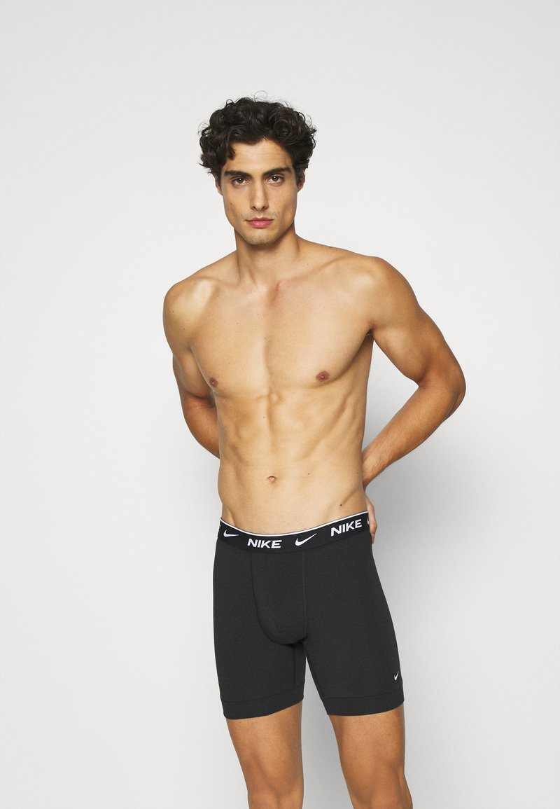 Nike Underwear - BOXER BRIEF 2PK COTTON STRETCH - Pants - black