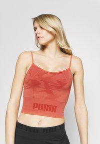 Puma - EVOKNIT SEAMLESS CROP - Sportshirt - autumn glaze - 3