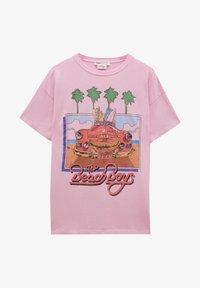 PULL&BEAR - Print T-shirt - pink - 5