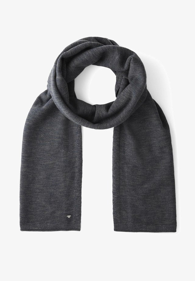 Scarf - navy anthra slub